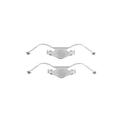 Set accesorii placute frana Delphi LX0353, parte montare : Punte Fata
