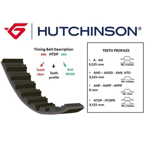 Curea distributie Hutchinson 123HTDP27