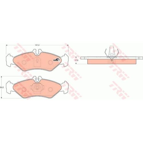 Set placute frana Trw GDB1262, parte montare : Punte spate