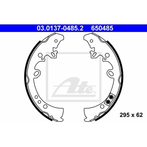 Set saboti frana Ate 03013704852, parte montare : punte spate