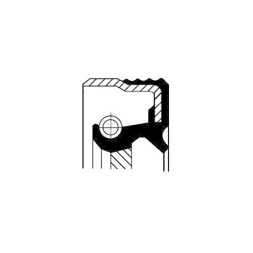 Simering diferential Corteco 12012697B, parte montare : Stanga