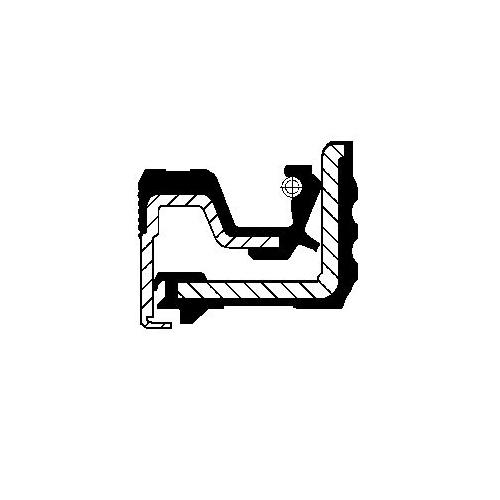 Simering diferential Corteco 12015510B, parte montare : Punte spate