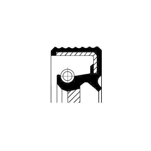 Simering diferential Corteco 12036825B, parte montare : Dreapta