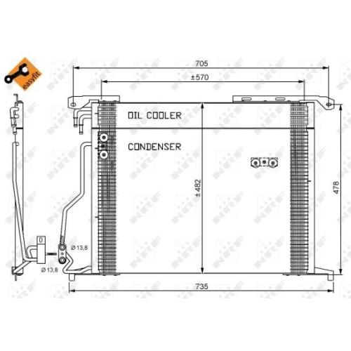 Condensator climatizare, Radiator clima Mercedes-Benz S-Class (W220), Sl (R230) Nrf 35578
