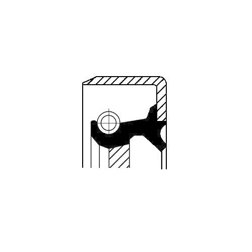 Simering diferential Corteco 19016663B, parte montare : Punte spate