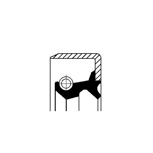 Simering diferential Corteco 19019542B, parte montare : Punte fata