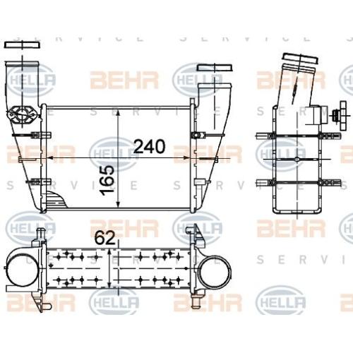 Radiator intercooler Hella 8ML376727581