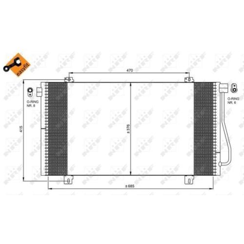 Condensator climatizare, Radiator clima Nissan Interstar (X70); Renault Master 2 (Jd) Nrf 350030