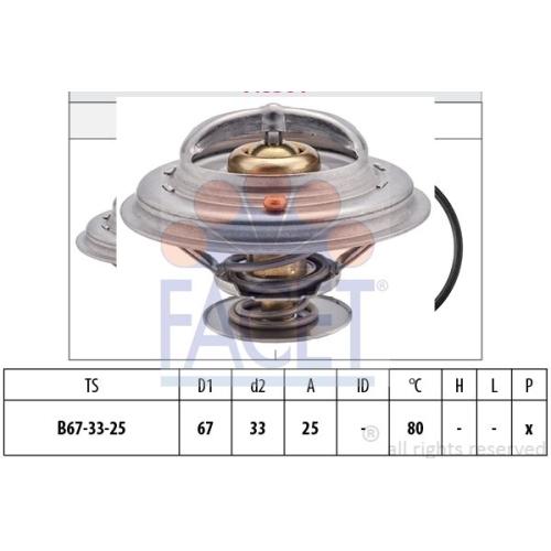 Termostat lichid racire Facet 78301S
