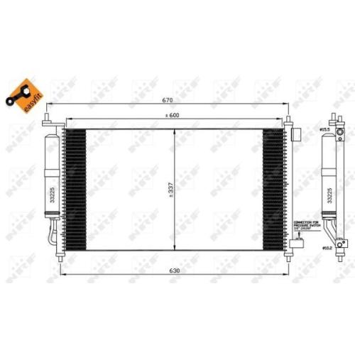 Condensator climatizare, Radiator clima Nissan Juke (F15), Micra 3 (K12), Note (E11) Nrf 35583