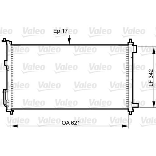 Condensator climatizare, Radiator clima Nissan Juke (F15), Micra 3 (K12), Note (E11), Tiida (C11x) Valeo 817836