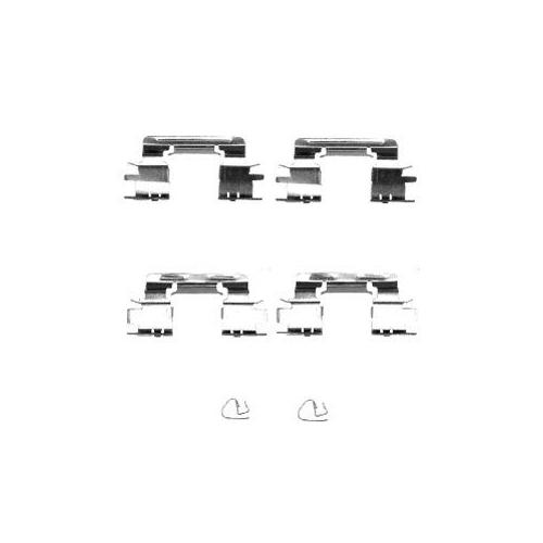 Set accesorii placute frana Delphi LX0385, parte montare : Punte Fata