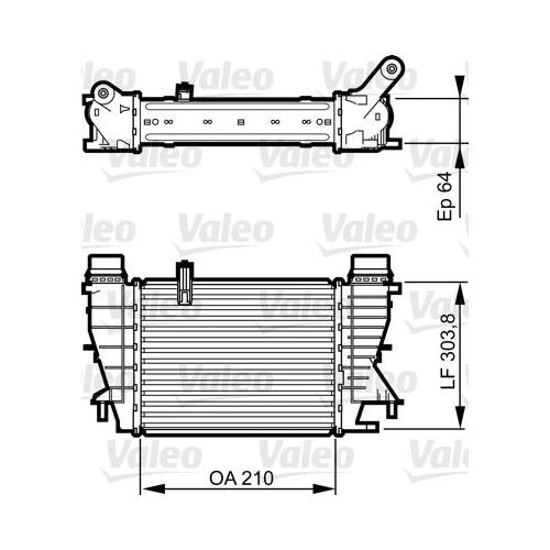 Radiator intercooler Valeo 818251