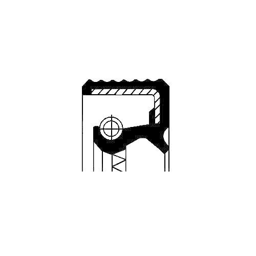 Simering diferential Corteco 12015557B, parte montare : Stanga