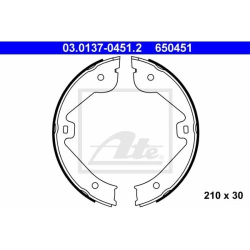 Set saboti frana mana Ate 03013704512, parte montare : punte spate