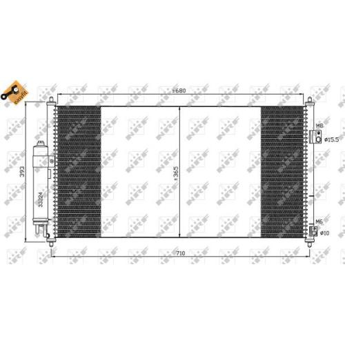 Condensator climatizare, Radiator clima Nissan X-Trail (T30) Nrf 35550