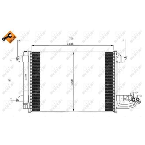 Condensator climatizare, Radiator clima Nrf 35520