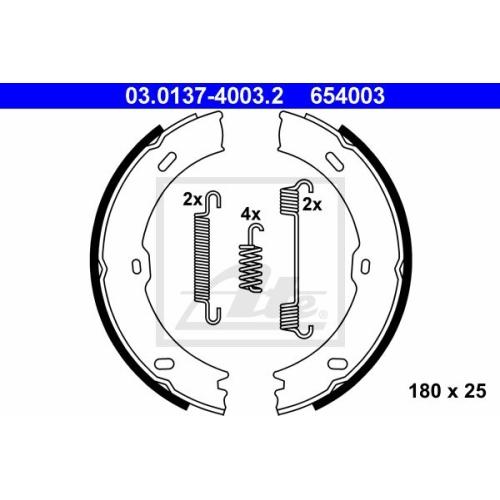 Set saboti frana mana Ate 03013740032, parte montare : punte spate
