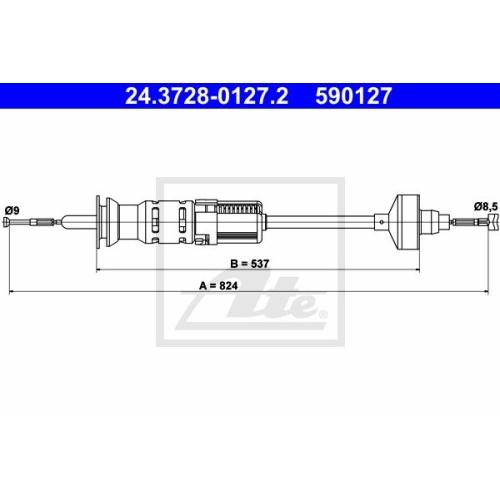 Cablu ambreiaj Vw Golf 3 (1h1), Vento (1h2), Ate 24372801272