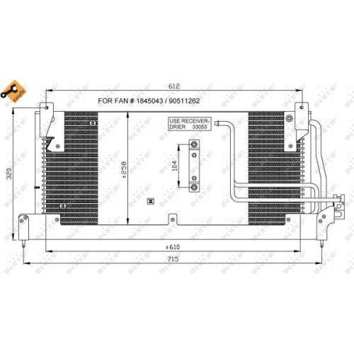 Condensator climatizare, Radiator clima Opel Corsa B, Corsa C Caroserie (F08, W5l) Nrf 35218