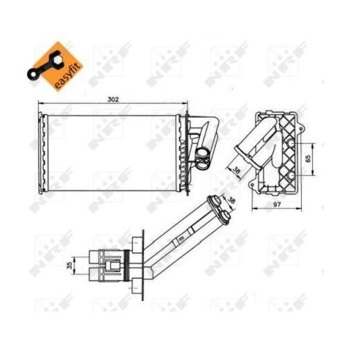 Radiator incalzire habitaclu Nrf 50577