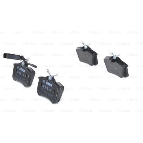 Set placute frana Bosch 0986494025, parte montare : Punte Spate