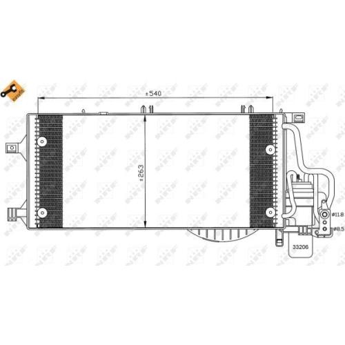 Condensator climatizare, Radiator clima Opel Corsa C (F08, F68), Tigra Twintop Nrf 35531