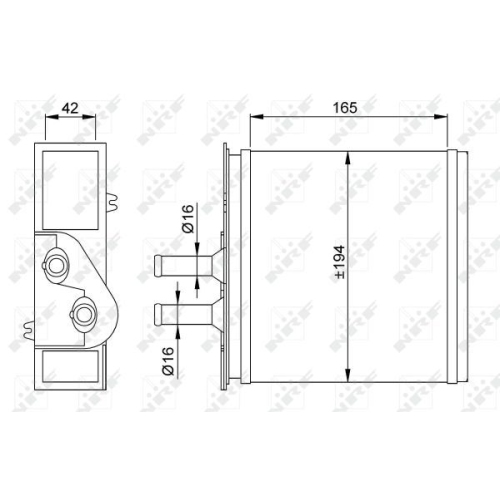 Radiator incalzire habitaclu Nrf 53204