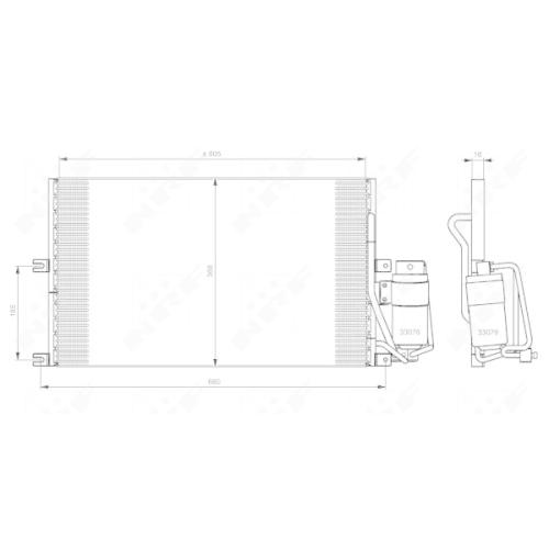 Condensator climatizare, Radiator clima Opel Vectra B Nrf 35183