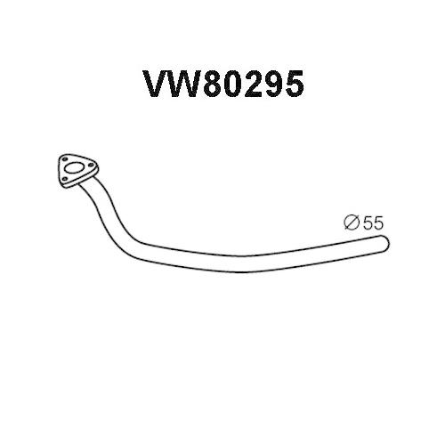 Racord evacuare Audi A6 (4b, C5); Vw Passat (3b2/3b3); Skoda Superb (3u4), Veneporte VW80295, parte montare : Central