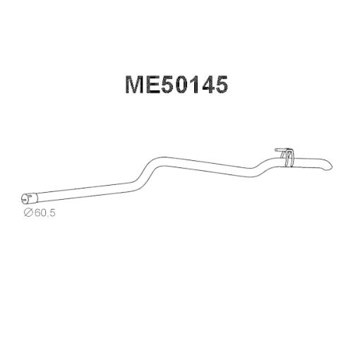 Racord evacuare Mercedes Sprinter (901, 902), Sprinter 3-T Bus (903), Sprinter 3-T Caroserie (903), Sprinter 3-T Platou / Sasiu (903), Veneporte ME50145, parte montare : Spate