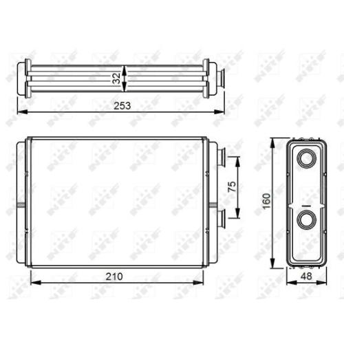 Radiator incalzire habitaclu Nrf 53233