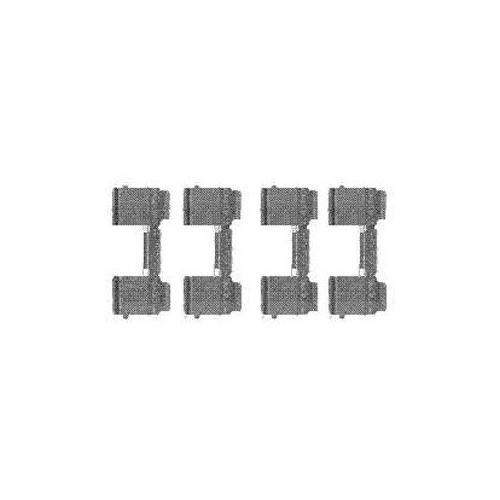 Set accesorii placute frana Delphi LX0477, parte montare : Punte Fata