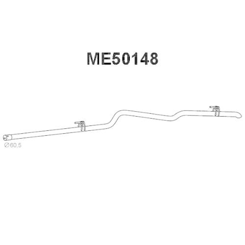 Racord evacuare Mercedes Sprinter 3-T Bus (903), Sprinter 3-T Caroserie (903), Sprinter 3-T Platou / Sasiu (903), Veneporte ME50148, parte montare : Spate
