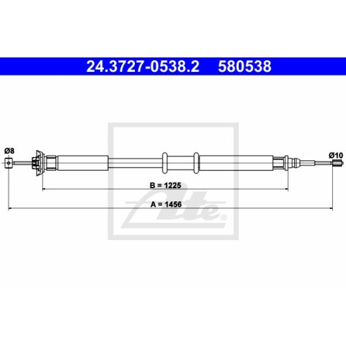 Cablu frana mana Fiat Punto (188), Ate 24372705382, parte montare : Spate