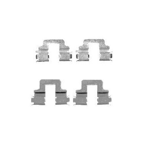 Set accesorii placute frana Delphi LX0480, parte montare : Punte Spate