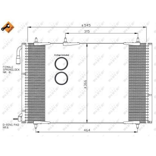 Condensator climatizare, Radiator clima Peugeot 206 (2a/C)/ 206+ (T3e) Nrf 35836