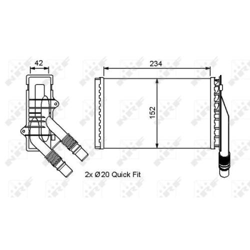 Radiator incalzire habitaclu Nrf 53554