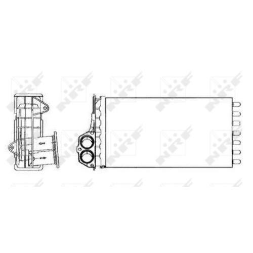 Radiator incalzire habitaclu Nrf 53634