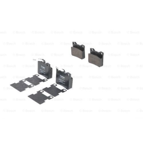 Set placute frana Bosch 0986494055, parte montare : Punte Spate