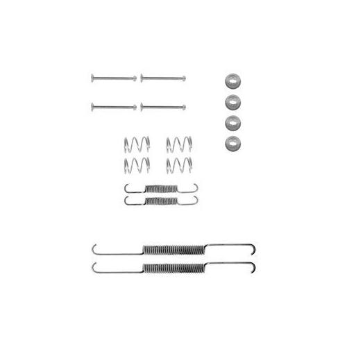 Set accesorii reparatie saboti frana Delphi LY1001, parte montare : Punte Spate