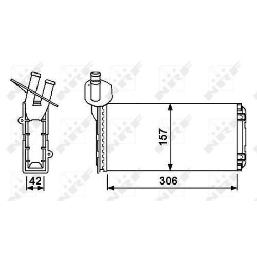 Radiator incalzire habitaclu Nrf 53889