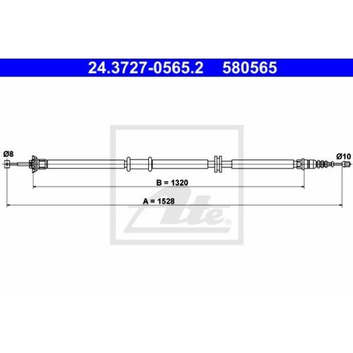 Cablu frana mana Fiat Linea (323), Ate 24372705652, parte montare : Dreapta, Spate