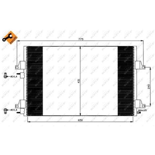 Condensator climatizare, Radiator clima Renault Espace 3 (Je0), Espace 4 (Jk0/1) Nrf 35557