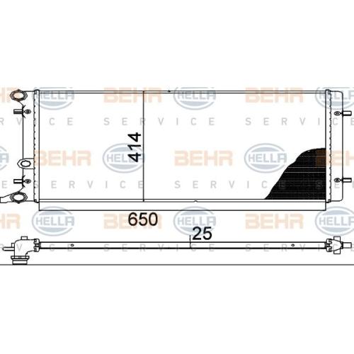 Radiator racire motor Hella 8MK376888784