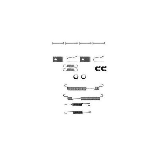 Set accesorii reparatie saboti frana Delphi LY1056, parte montare : Punte Spate