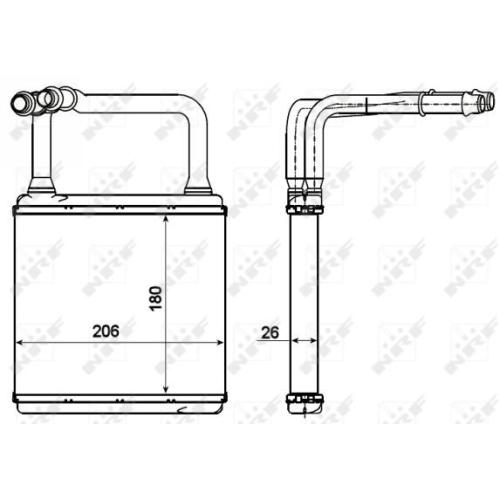 Radiator incalzire habitaclu Nrf 54273