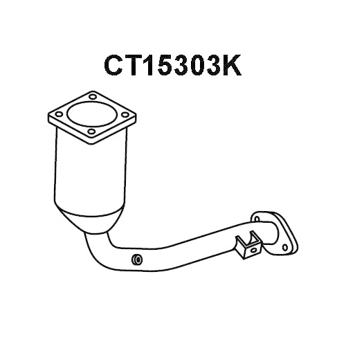 Catalizator Peugeot 1007 (Km), 207 (Wa , Wc); Citroen C2 (Jm), C3 1 (Fc), C3 Pluriel (Hb), Veneporte CT15303K