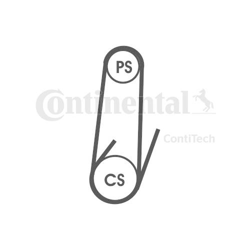 Curea transmisie cu caneluri Contitech 4PK711ELAST