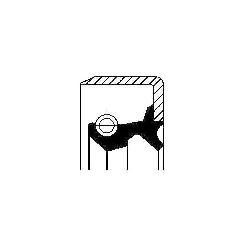 Simering butuc roata Corteco 12015943B, parte montare : punte fata, exterior
